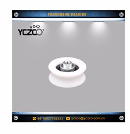 YCZCO-625RD15 white nylon roller u groove nylon wheel 5*23*7mm