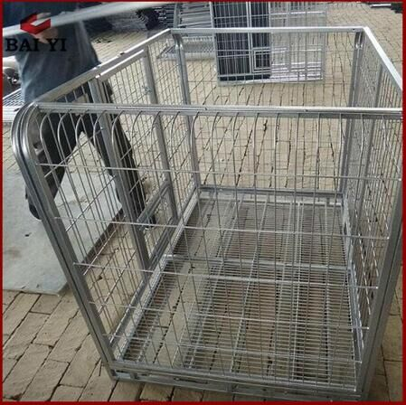 Portable dog kennel,strong steel bar pet cage,sloping dog cages