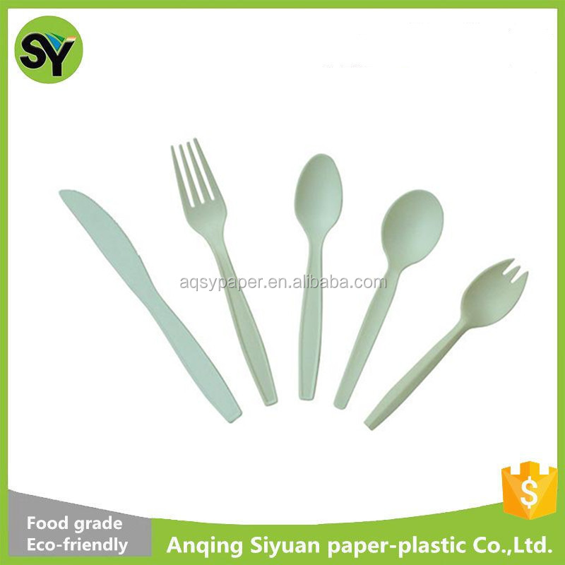 Corn Starch Eco-Friendly Plastic Disposable Cutlery