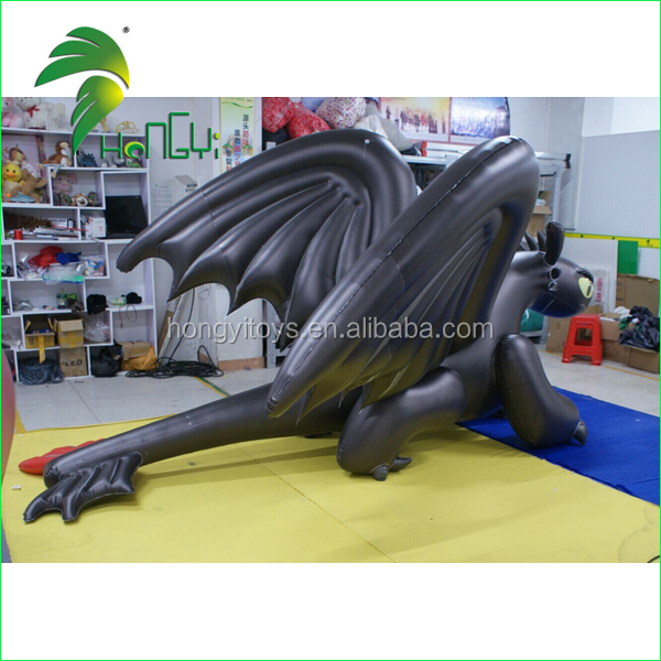 Popular Inflatable Toothless Black Dragon For Sale