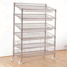 Multifunction commercial wire shelving slanted wire shelving standard supermarket shelving