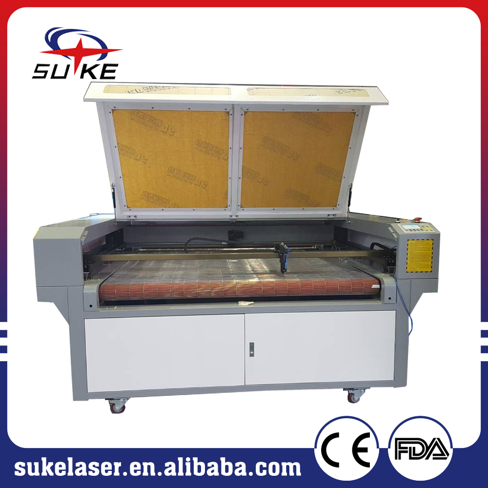 1610 fabric CNC laser cutter machine with auto feeding system