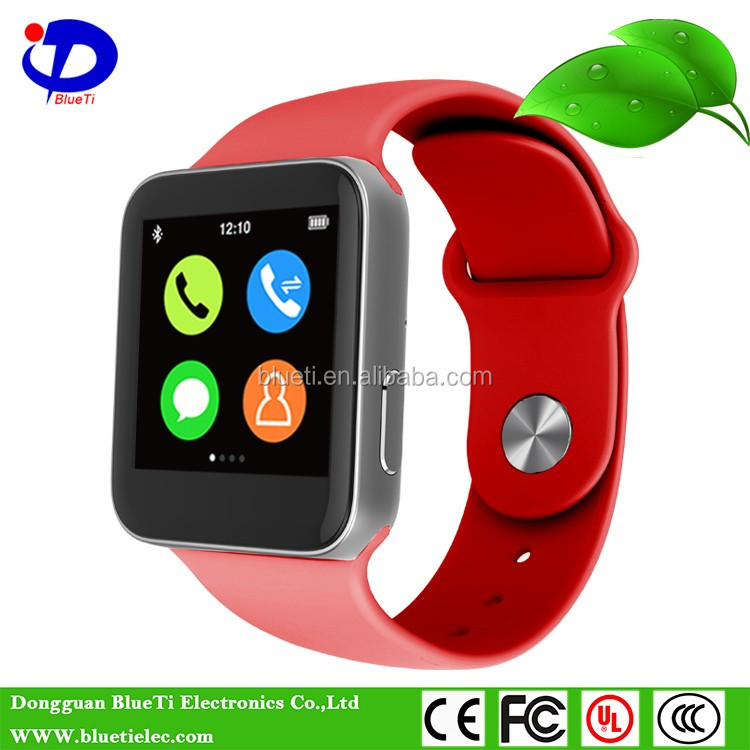 Square Metal Watch with Replaceable Bracelet heart rate moniter bluetooth smart watch phone