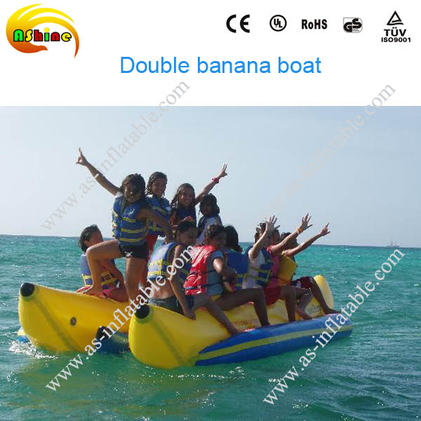 Giant adult inflatable water park games flyfish banana boat for adults