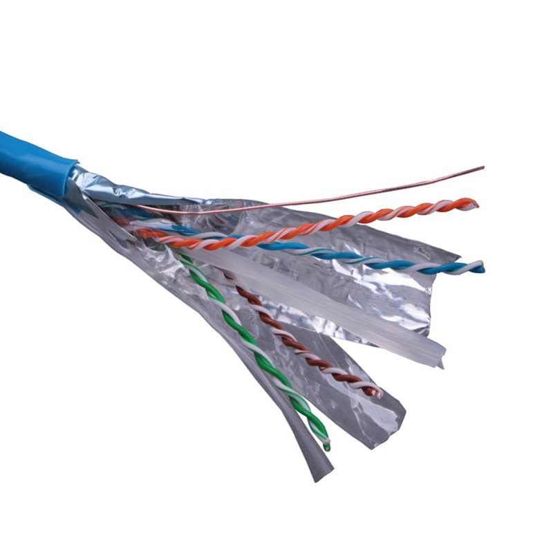 250MHz 4pair bare copper 305m CU 23AWG <strong>u</strong>/ FTP Cat 6 network lan cable