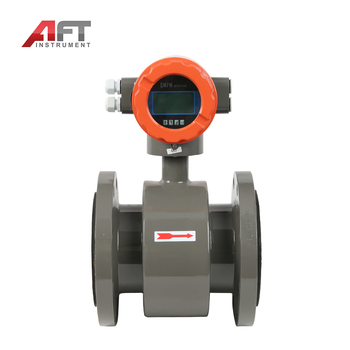 automatic electromagnetic flow meter rubber water treatment flowmeter