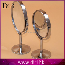 Sliver-Plated Round Shaped Double Sided Table Mirror Free Standing Desktop Fancy Makeup Mirror