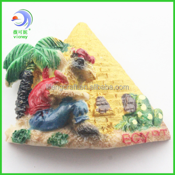 egypt souvenir 3d pyramid fridge magnet