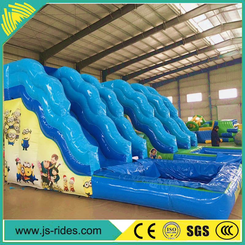 Amusement park big inflatable kids water slide for kids and adults