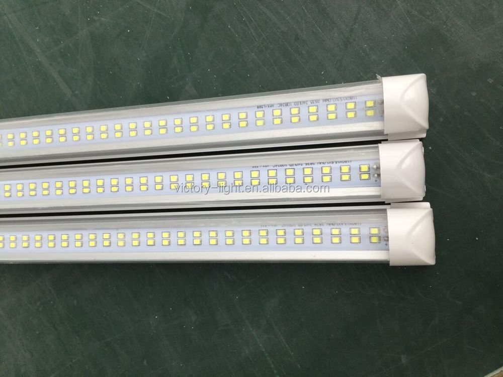 clear/frosted/stripy cover 25w joinable integrated 1.2m dual row t8 led <strong>tube</strong>