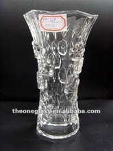 Wholesale 2016 Hot Products Clear Mercury Square Glass Vase