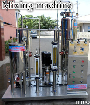 carbonated beverage mixing machine