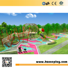 Playground solutions adventure steel nets equipment outdoor play center for kids happy land zone