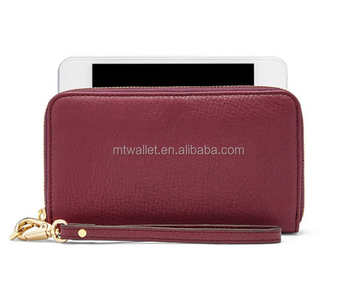 Hight Quality Leather New Y Zip Phone Wallet Purse / Leather Smart Wallet Phone Case / Leather Wristlet Wallet Purse
