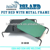 Elevated pet bed,pet bed with metal frame,square tube dog bed