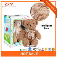 Lovely bear plush toy with english intelligent conversation