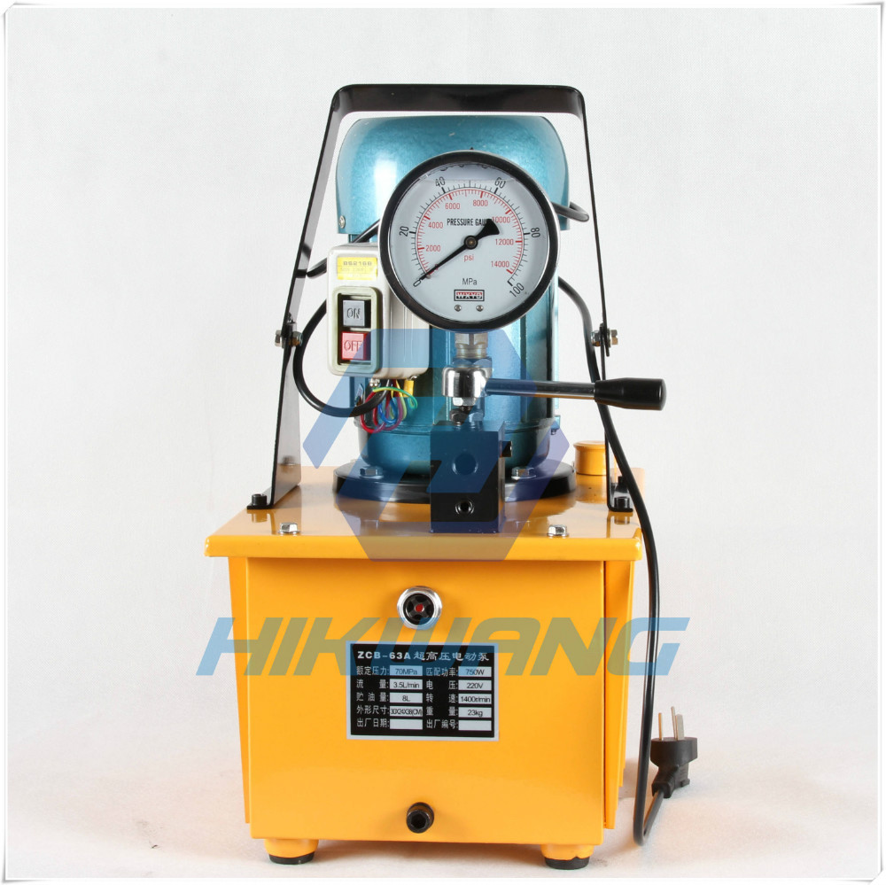 hydraulic electric pump ZCB-63A motor driven pump