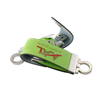 Promotional bulk cheap usb flash drives leather usb flash pendrives