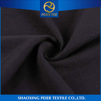China manufacturer soft polyester anti flammable fabric cotton knit stripe shirt strech microfiber fabric