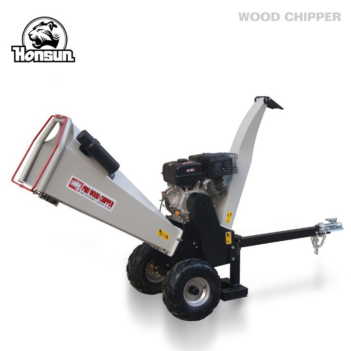 Qingado Honsun professional supplier Honda 13HP gas engine garden shredder homemade portable Honda wood chipping machine