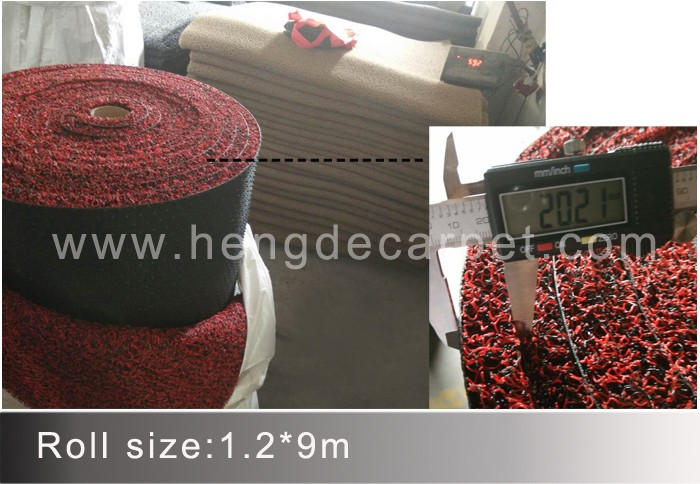 fashion designed safe persian car floor carpet with plastic coil for auto