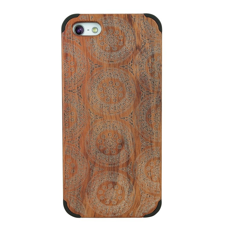Best Price in Asia Handmade Protective Real Wood Hard Phone Case Cover For Apple Iphone 5C Cell Phone Accessories