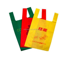 non woven t shirt bag with logo for packing