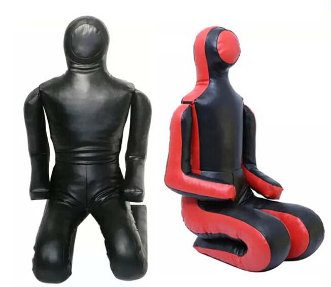 Custom logo PU leather Brazilian jiu-jitsu UFC training MMA judo dummy in black or red