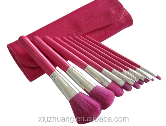 Wholesale Price Private Label 9pcs Beauty Cosmetics Brushes Eye Makeup Tools