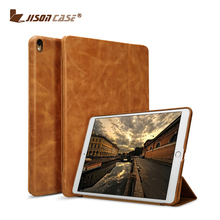 Jisoncase Most Luxury Genuine Leather Flip Case Cover with Stand Function for iPad Pro For iPad Pro Case