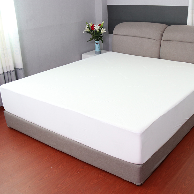 Premium bamboo jacquard fitted mattress protector pad cover - Jozy Mattress | Jozy.net