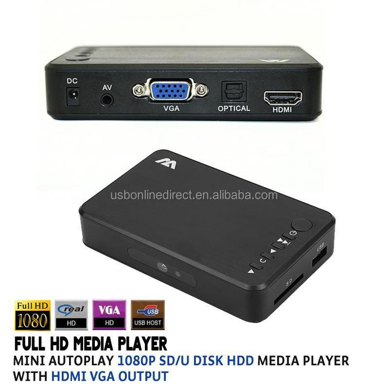 HD Media Player support <strong>1080p</strong> SD/<strong>U</strong> Disk Media Player With HDMI VGA Output