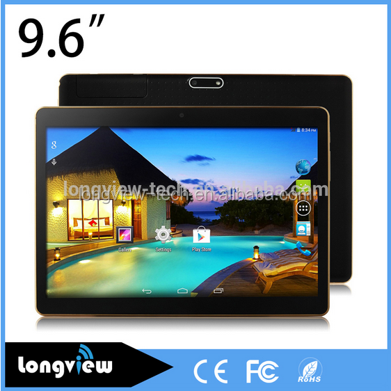 9.6 inch 3G 1280*800 MTK6582 1.3GHz, GSM/WCDMA Quad Core Tablet PC Android 5.1 1GB 8GB/16GB