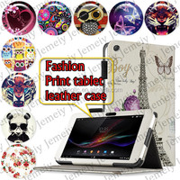 "Fashion Printing Tablet PU Leather Case For Sony Xperia Tablet Z 10.1"" Cover Folio Stand Case"