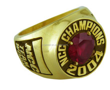 RUBY Stone Bezel Set personalized Sport champions Rings