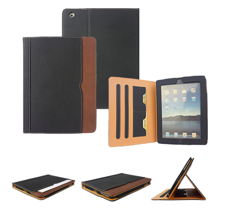 Multifunction premium PU leather case for ipad leather case cover, for ipad leather case 10.5 custom