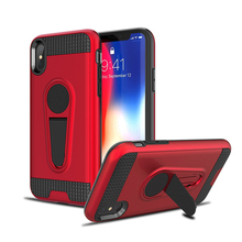 Bulk cell phone case with kickstand car mount mobile accessories case for iphone x