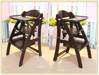 2014 hot sale new design adjustable folding child dining high chair,portable bamboo baby chair