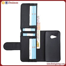 Hot selling mobile phone case flip leather cover for htc one 2 m8 mini