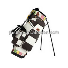 New Style Nylon Plaid Cloth golf stand bag