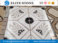 2017 Natural stone marble flooring tile waterjet medallion