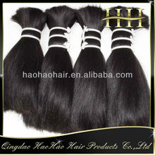 Best quality brazilian natural hair bulk 30 inch natural color bulk hair for wig making