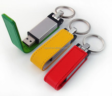 Free embossed logo 8gb red leather usb flash drive,Custom Flash usb stick leather, custom leather usb pen drive with keychain