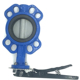 5K/10K ductile iron body DI plate EPDM sealing rubber lined no pin wafer butterfly valve price list DN100