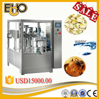Multifunction high quality ultra smart rotary pre pouch doypack full automatic Cashew nuts filling Tray Pack Machine