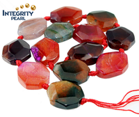 Wholesale gemstone loose beads, facted colorful egg shape agate beads,thin agate slices