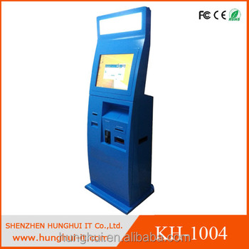 Touch Self Bill Payment Kiosk with cash and coin accepter shopping mall kiosk