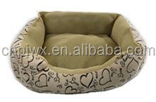 high quality luxury pet bed with velvet Dog house