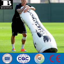 high quality inflatable soccer training dummy plastic heavy duty sports keeper dummy portable giant punching dummy