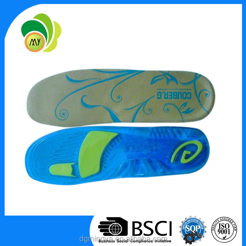 High quality TPE insole for shoes Gel PU Insole Full insole PU Silicon